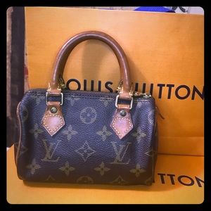 AUTH Louis Vuitton mini Speedy
